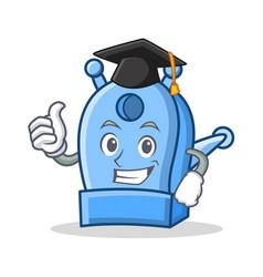 Graduation pencil sharpener character cartoon vector