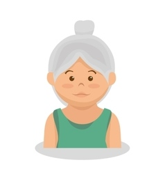 Grandmother avatar character member vector