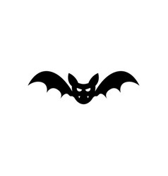 halloween creepy bat icon vector image