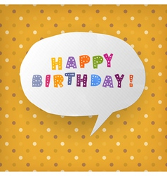 Happy birthday gift card template vector