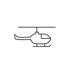 helicopter of icon vector image