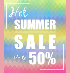 hot summer sale up to 50 design vector image