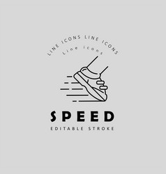 Icon and logo for speed motion editable vector