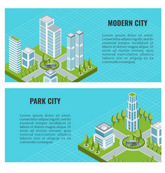 isometric modern city vector image
