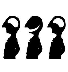 Joke empty head silhouette vector