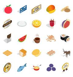kitchener icons set isometric style vector image