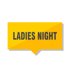 Ladies night price tag vector