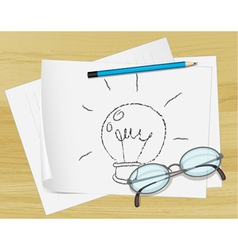 Lightbulb Idea Paper vector image