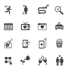 Love icons related family story vector