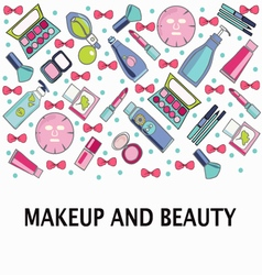 Make-Up beauty and healthy cosmetic product vector image