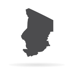 map chad isolated black on vector image