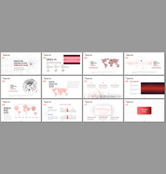 Minimal presentation templates vector