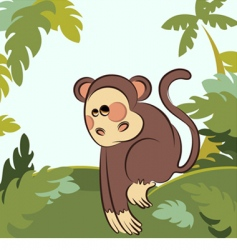 monkey in the jungle vector image