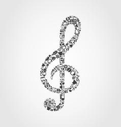 Musical key4 vector