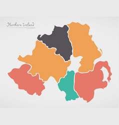 Map Of Northern Ireland Counties.Northern Ireland Counties Vector Images 85