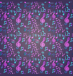 Notes seamless pattern music banner colorful vector