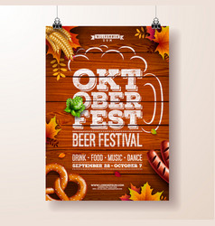 oktoberfest poster with vector image