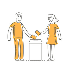 people vote elections voting symbol vector image