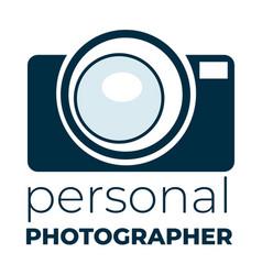 Personal photographer camera logotype vector
