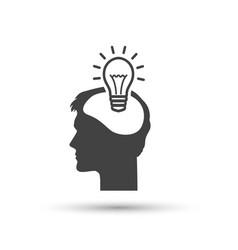pictograph bulb concept icon vector image