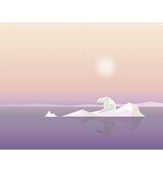 Polar Bear on Ice Cap vector
