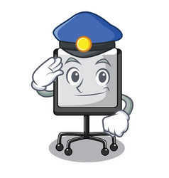police prestation board chart blank on carttoon vector image