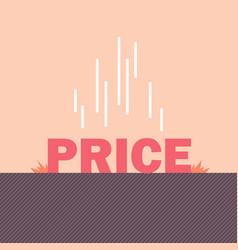 Price floor concept vector