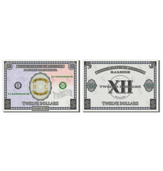 Protective guilloche mesh fictional 12 dollars vector