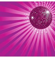 purple disco ball and stars vector image
