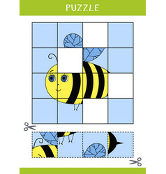 puzzle for kids vector image