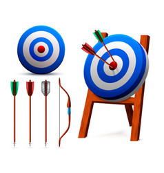 realistic targets archery set vector image