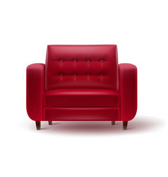 red armchair for home or office interior vector image