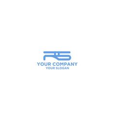 Rs drone logo design vector