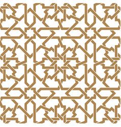 seamless arabic geometric ornament in golden and vector image