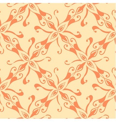 Seamless red pattern on yellow background vector