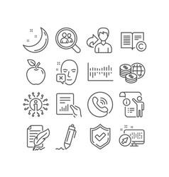 Search employees column diagram and copyright vector