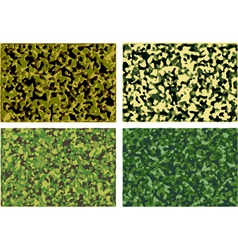 Set of camouflage textures vector