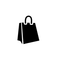 shopping bag icon in flat style for apps ui vector image