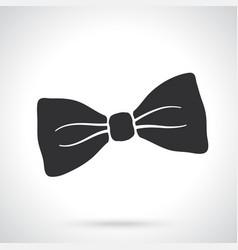 silhouette retro bow tie vector image