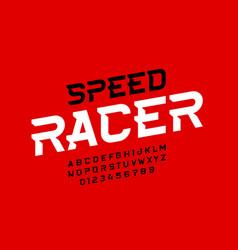 Sport style font design speed alphabet letters vector