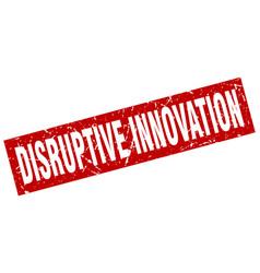 Square grunge red disruptive innovation stamp vector