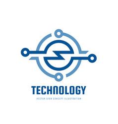 Technology - business logo template concept vector
