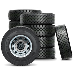 Truck Tires vector image