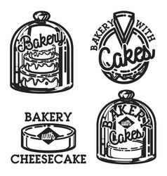 vintage bakery emblems vector image