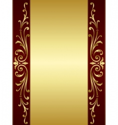 Vintage scroll background vector