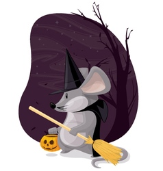 Witch Mouse vector image
