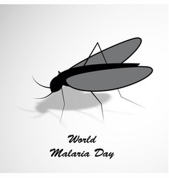 world malaria day background vector image