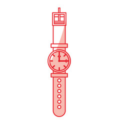 Wristwatch fashion accesory vector
