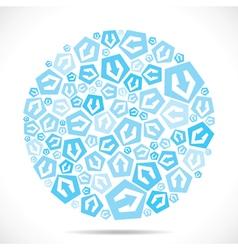 Blue small arrow icon design stock vector image vector image