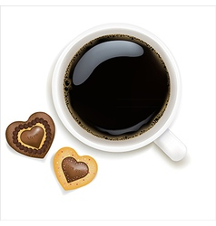 Cup Of Coffee With Cookies vector image